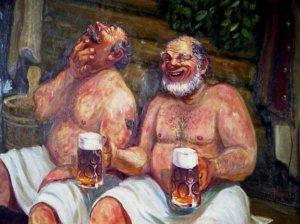 пиво в бане
